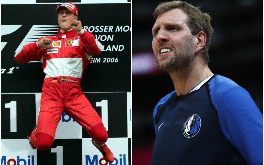 Michaelis Schumacheris (kairėje), Dirkas Nowitzki
