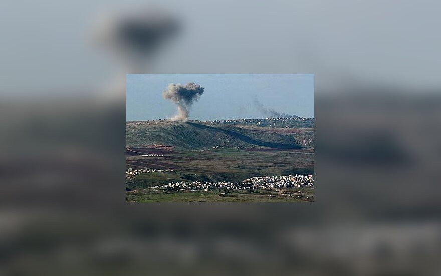 Izraelio karo lėktuvai apšaudo taikinius Pietų Libane