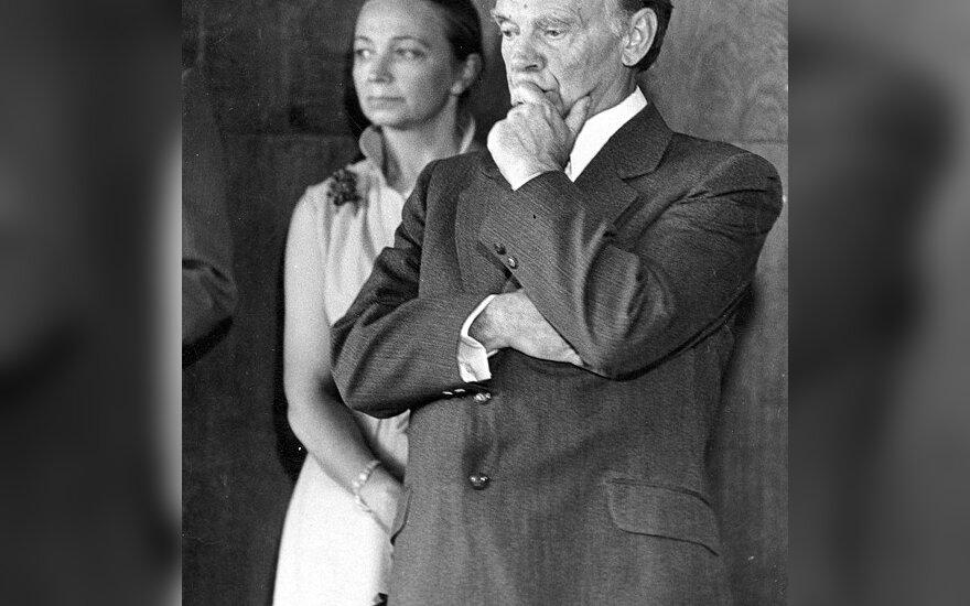 P. Stauskas per savo 60-metį su žmona Aldona.