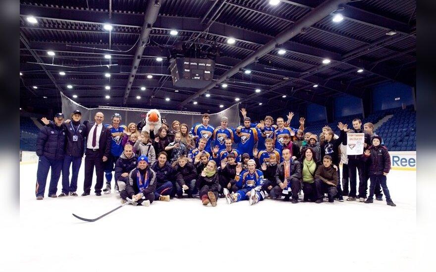 """""""Balticos"""" klubo rungtynėse apsilankė vaikai ir jaunuoliai iš """"Caritas"""" globos centrų"""