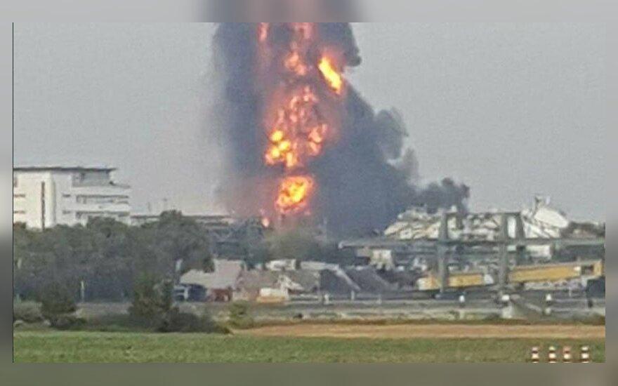 Vokietijoje mirė ketvirtas per sprogimą BASF fabrike sužeistas žmogus