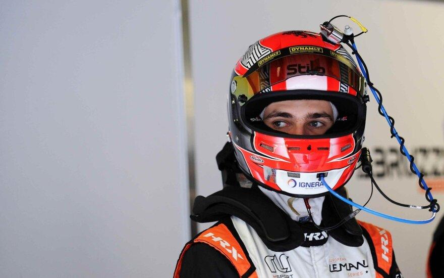 Chaotiškose lenktynėse Monzoje Gustas Grinbergas finišavo 9 vietoje