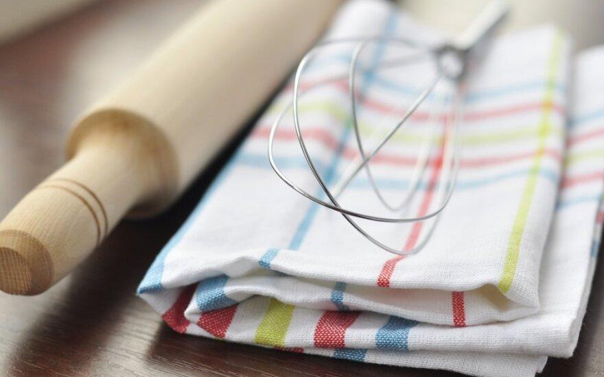 Kur patogiausia laikyti virtuvinius rankšluosčius