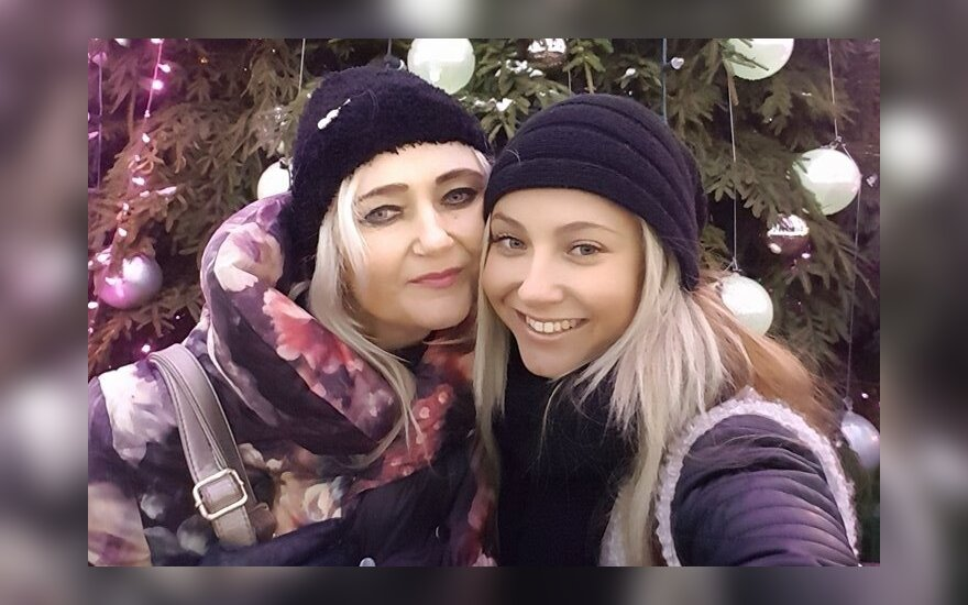 Aistė Karanauskytė su mama Rosita