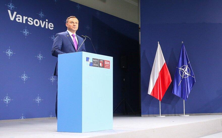 Konferencja prasowa Prezydenta RP (fot. Andrzej Hrechorowicz / KPRP)