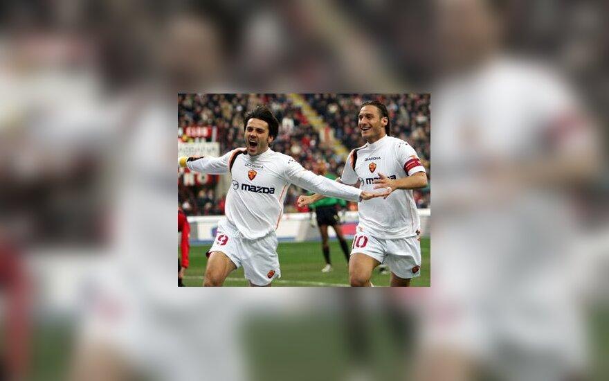 "Vincenzo Montella ir Francesco Totti (""AS Roma"")"