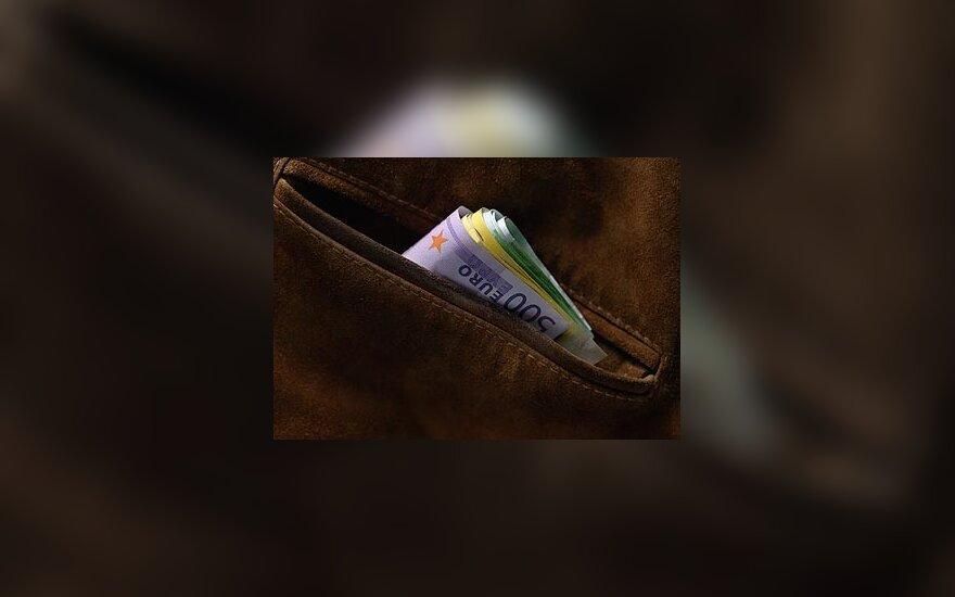 Eurai kišenėje, pinigai, banknotai