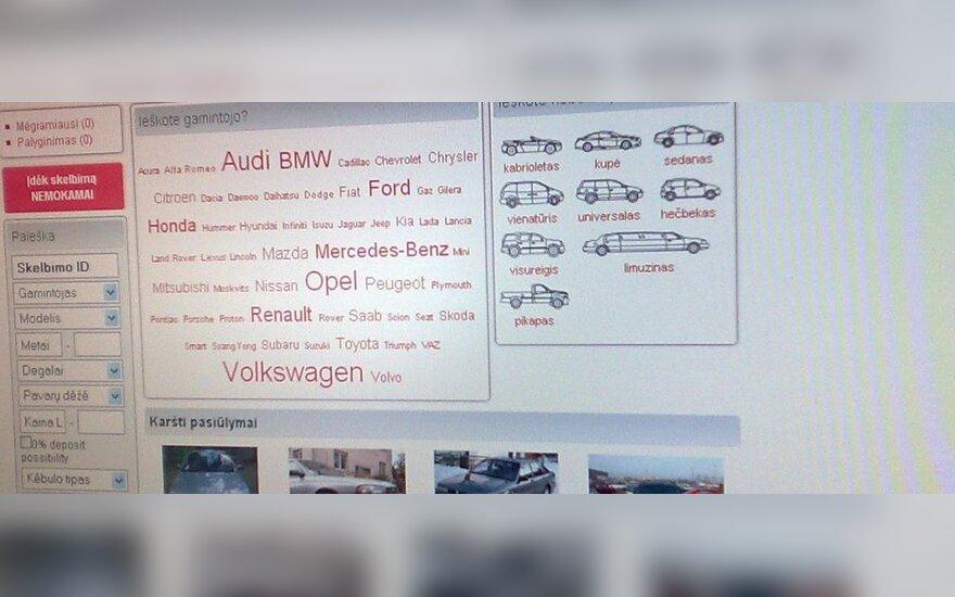 Skelbimai, autoskelbimas, parduodami automobilai