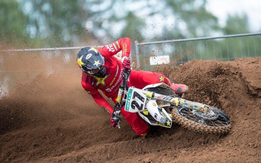 Arminas Jasikonis Latvijoje Pasaulio motokroso čempionato etape