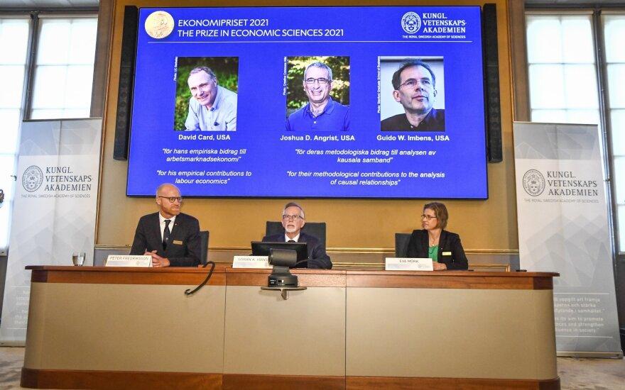 Nobelio ekonomikos premija atiteko D. Cardui, J. D. Angristui ir G. W. Imbensui