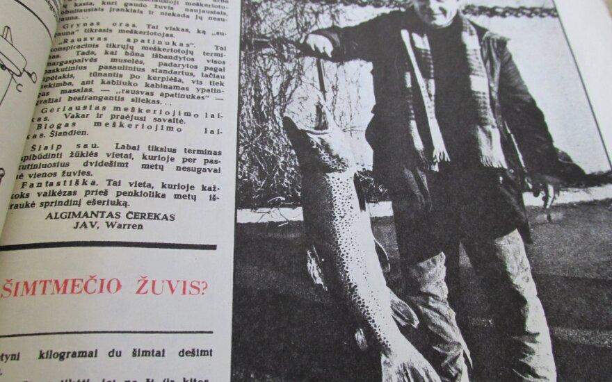 Žvejo sugautas upėtakis