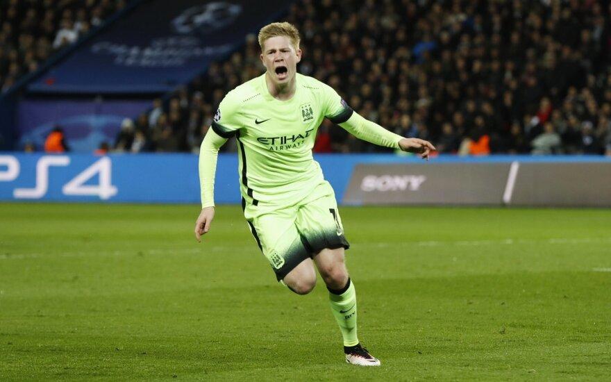 """Manchester City"" ekipa Anglijos futbolo elite rungtyniauja pergalingai"