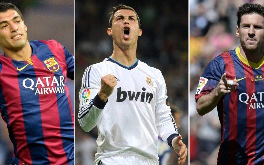 Luisas Suarezas, Cristiano Ronaldo ir  Lionelis Messi
