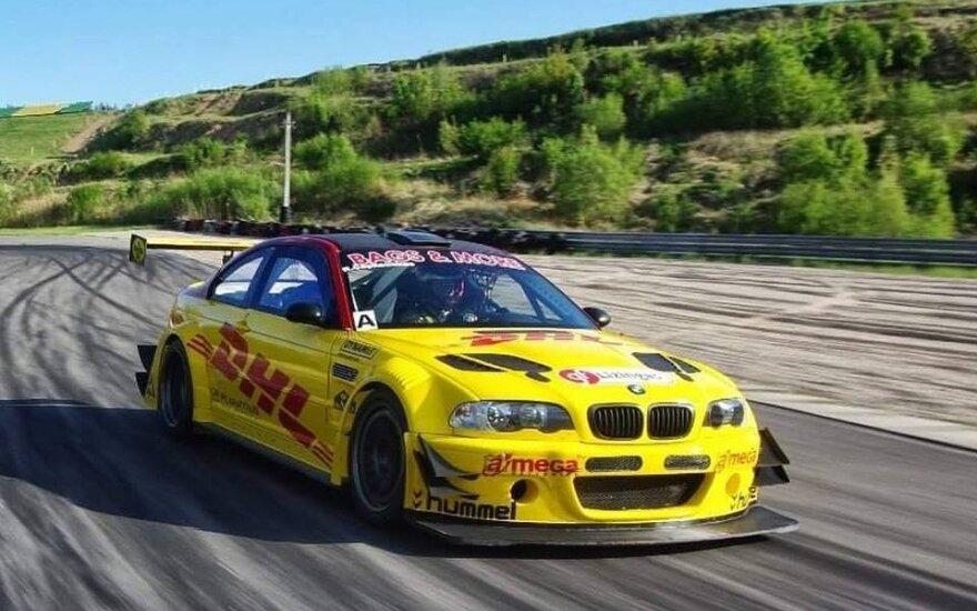 """DHL Racing Team"" lenktynių automobilis"
