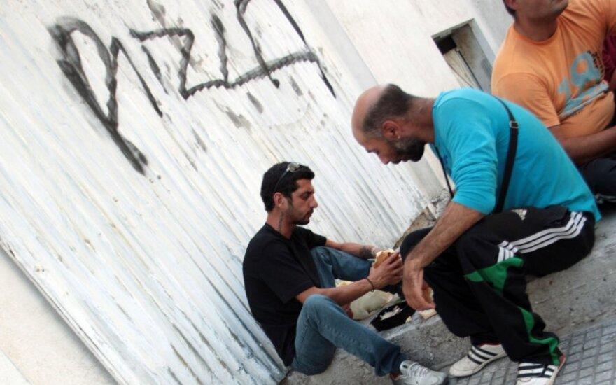 Nedarbas Graikijoje išaugo iki rekordinio lygio