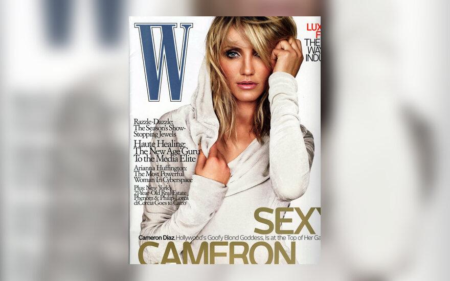 """Cameron Diaz žurnalo """"W"""" viršelyje"""