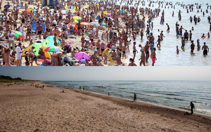 Palangos ir Papės paplūdimiai skiriasi kaip diena nuo nakties