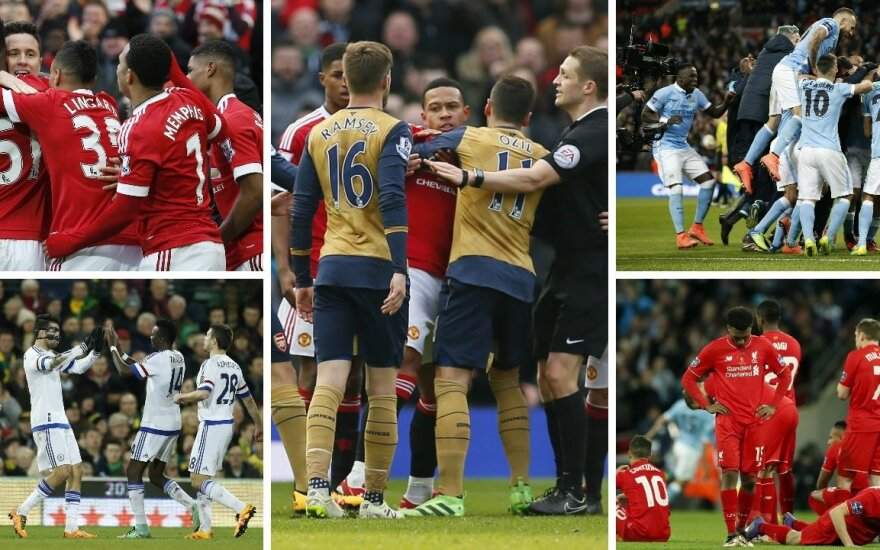"""Man United"", ""Chelsea"", ""Arsenal"", ""Man City"" ir ""Liverpool"""