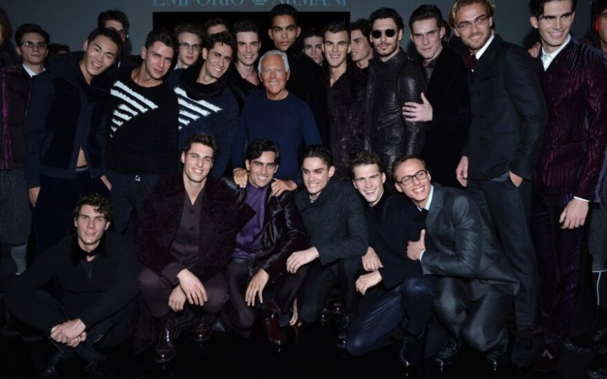 Giorgio Armani su modeliais