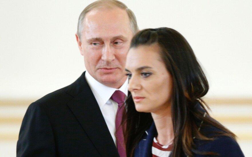 Vladimiras Putinas, Jelena Isinbajeva