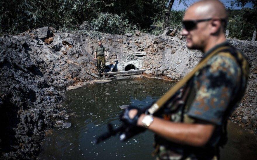 Donecko centras pirmą kartą apšaudytas iš artilerijos pabūklų