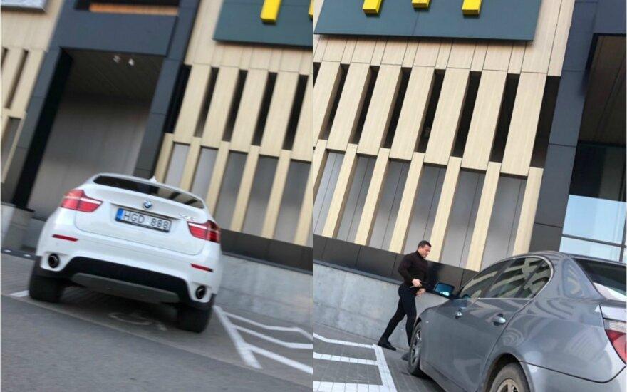 """BMW vairuotojo įžūlumas stulbino: tikrai geros formos """"neįgalusis"""""""
