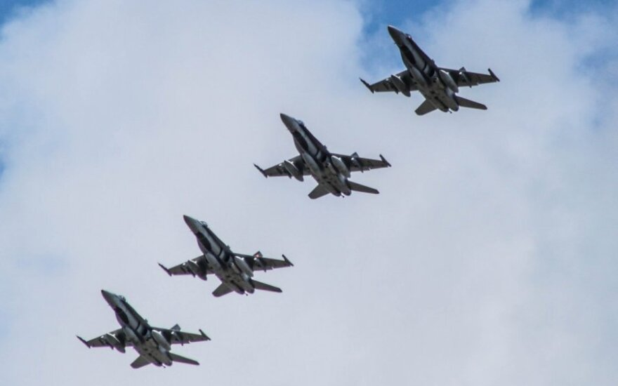 F-18 Hornet fighter jets of the Royal Canadian Air Force