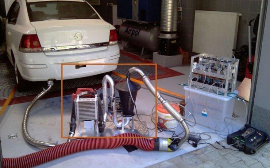 Automobilio filtravimo įrenginys