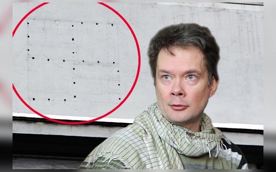 Svastikos siluetas, Vytauto Petriko nuotr.