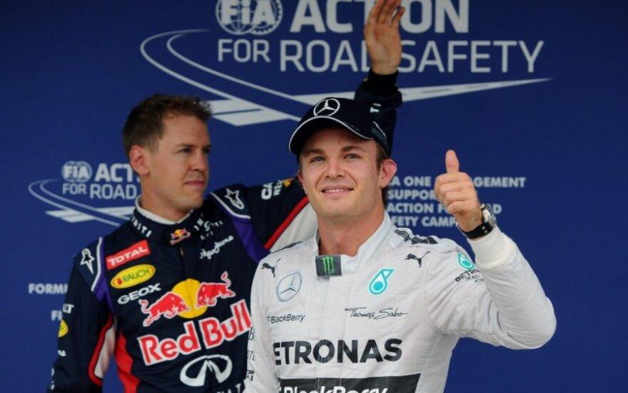 Nico Rosbergas ir Sebastianas Vettelis