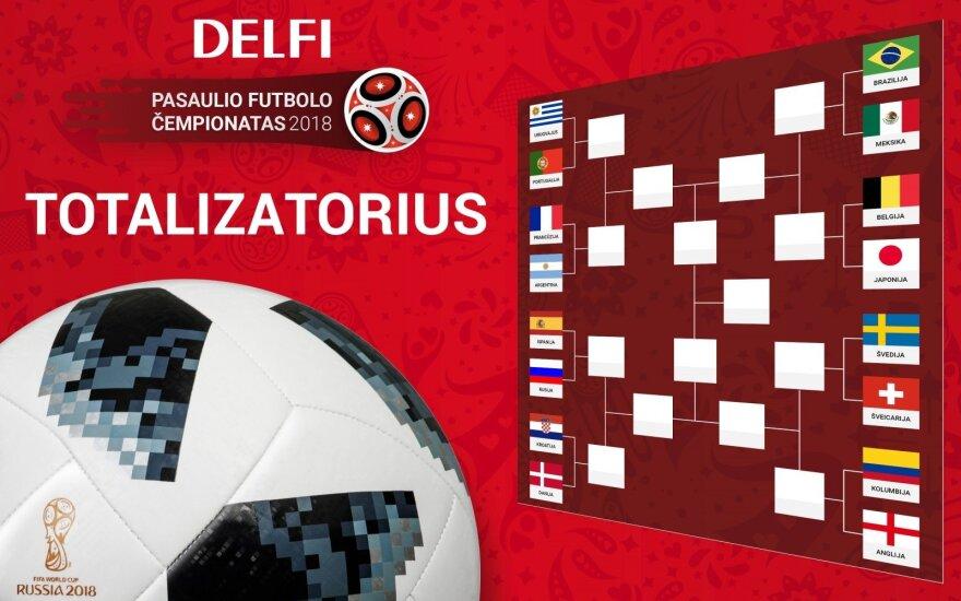 DELFI TOTALIZATORIUS: kaip susiklostys FIFA 2018 aštuntfinaliai? Užpildyk savo prognozių lentelę!