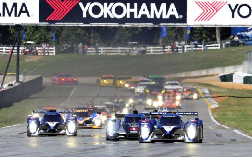 """""""Peugeot"""" automobiliai Le Mano ištvermės lenktynėse"""