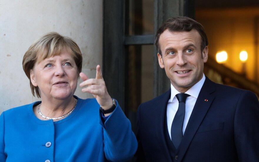 Angela Merkel, Emmanuelis Macronas