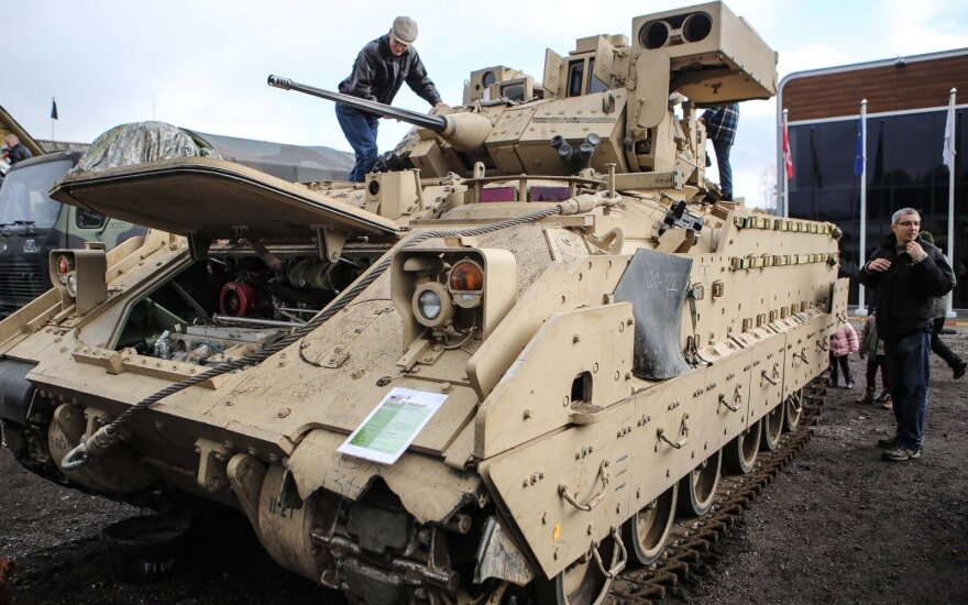 M2 Bradley at the open to publish viewing during the Iron Wolf 2014