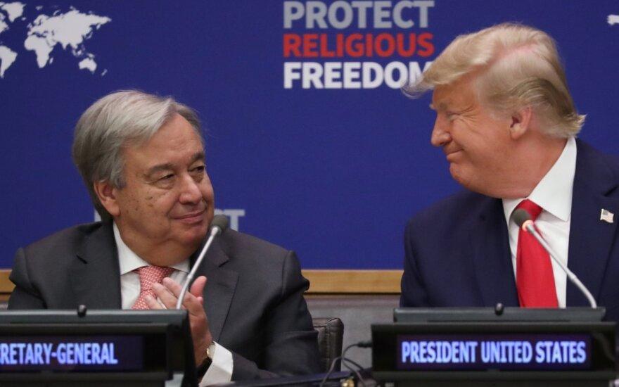 Antonio Guterres ir D.Trumpas