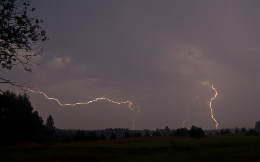 Thunderstorm in Lithuania.  Photo V. Gulbickij