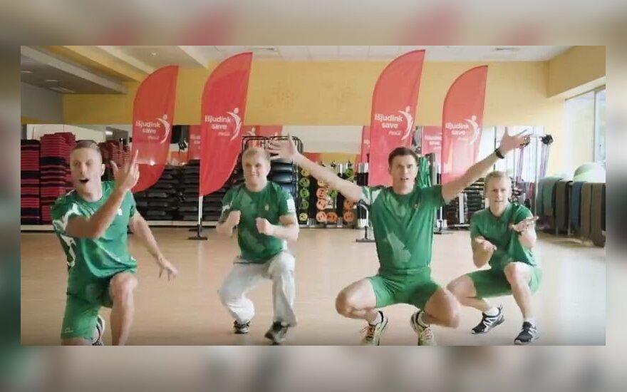 Lietuvos olimpiečiai sukūrė smagų šokį