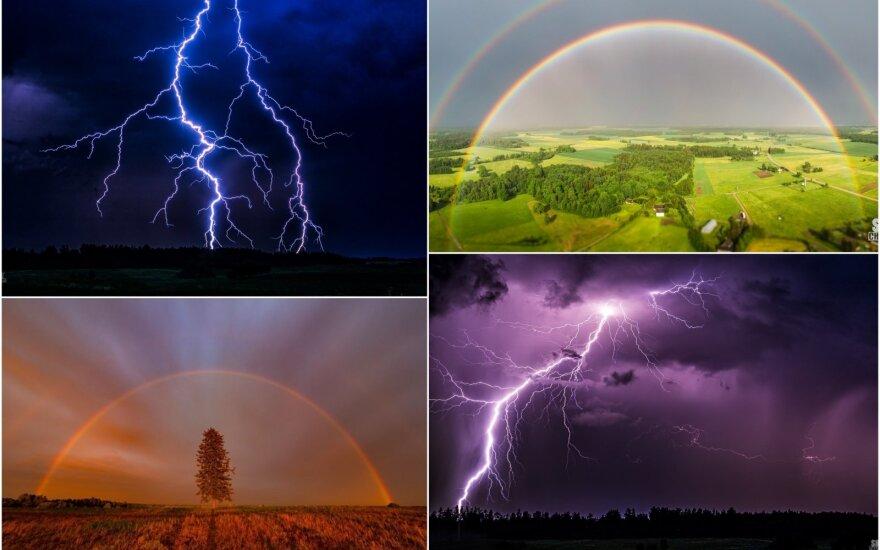 Žaibų medžiotojų užfiksuotas birželio dangus, Sky Chasers LT nuotr.