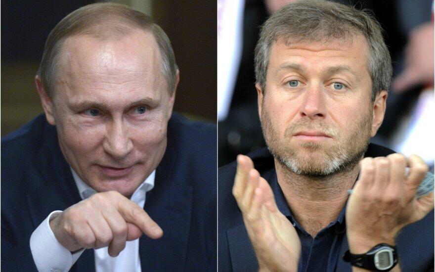 Vladimiras Putinas ir Romanas Abramovičius