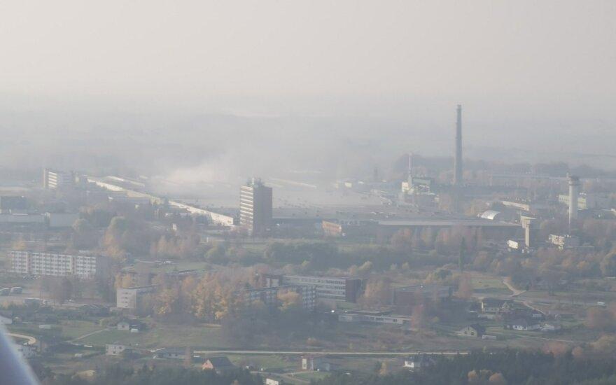 Smogas po gaisro Alytuje (Paulius Briedis nuotrauka)