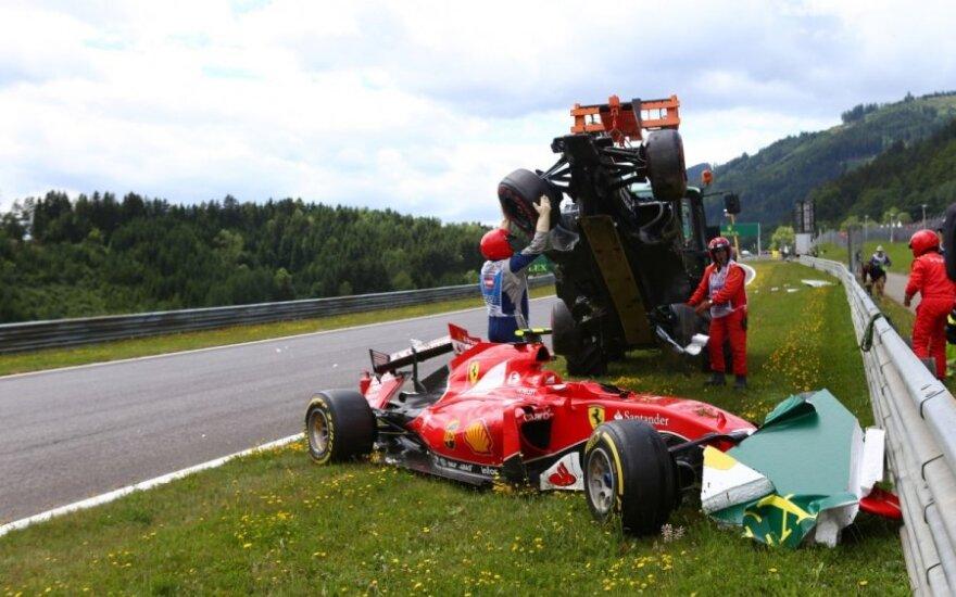 K. Raikkoneno ir F. Alonso avarija