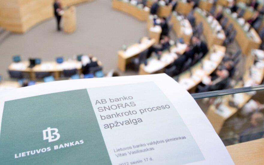 """I.Degutienė: """"Snoro"""" veiklos tyrimas Seime gali pakenkti Lietuvai"""