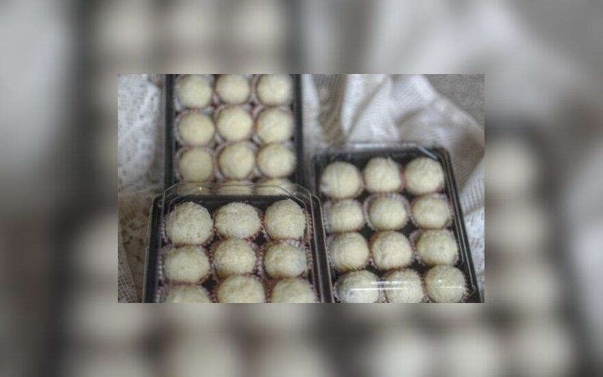 Kokosiniai saldainiai Pūkučiai