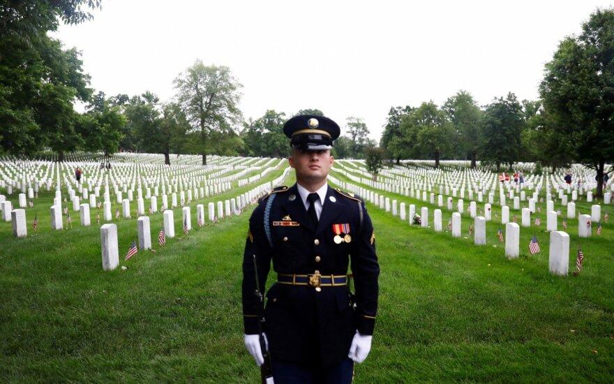 Amerikiečiai Atminties dieną pagerbė karuose kritusius kariškius
