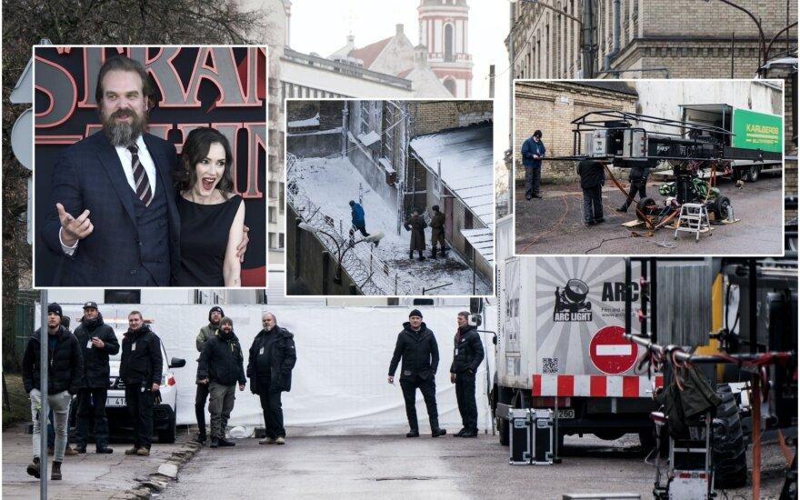 "Serialo ""Stranger things"" filmavimas Lietuvoje / Foto: AP / Scanpix ir DELFI"