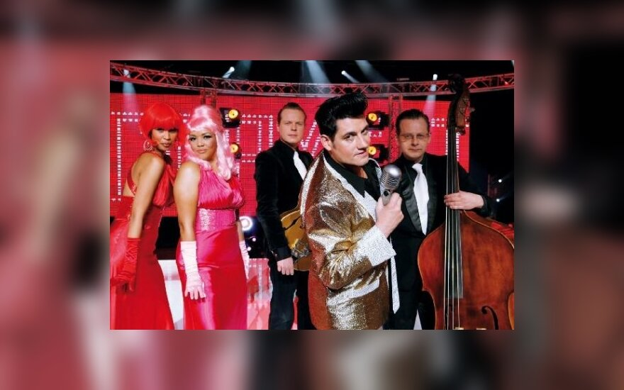 """Belgų atstovai """"Eurovizijoje"""" - grupė """"Copycat""""."""