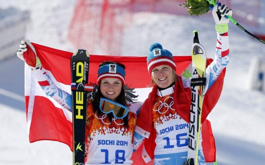 Anna Fenninger ir Nicole Hosp