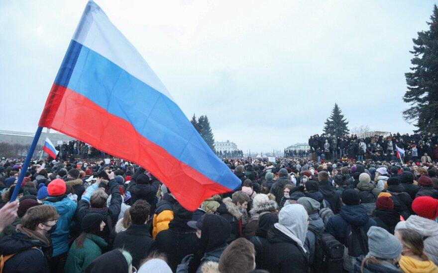 Navalno šalininkų protestai Rusijoje