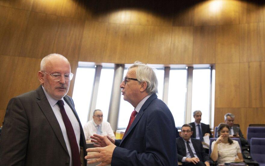 Fransas Timmermansas ir Jeanas Claude'as Junckeris