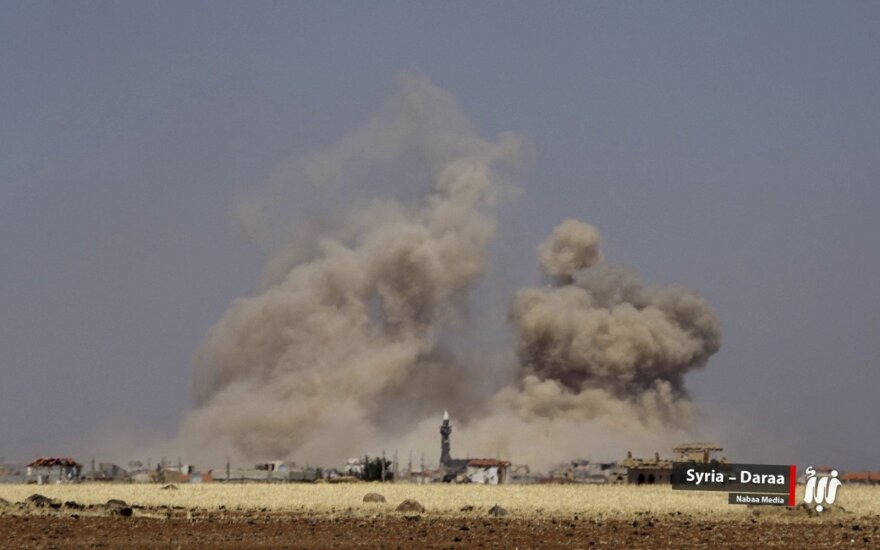 JT: dėl kovų Pietų Sirijoje savo namus paliko 45 tūkst. žmonių